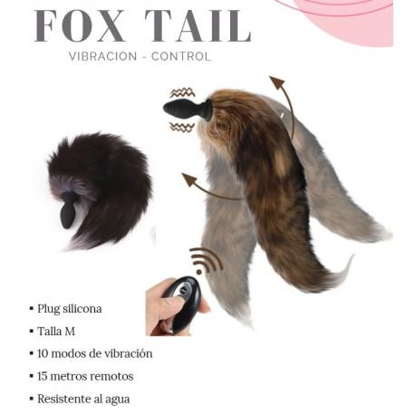 Plug anal cola de zorro con vibración