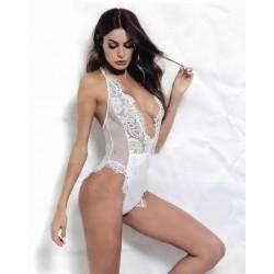 Body encaje blanco