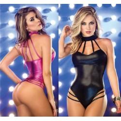Sexy body brillante cuero sintetico